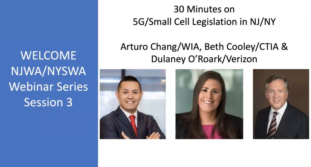NJWA & NYSWA Free Webinar Series 3: 30 Minutes on 5G/Small Cell Legislation in NJ/NY